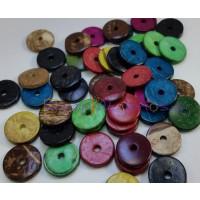 Donuts de coco 15x3 mm- Mix de colores  -25 uds