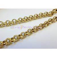 Cadena de laton ROLO  9.5 mm bañada en oro NUEVO BAÑO -20 cm