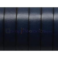 Cuero plano 10 mm, color azul marino, seccion de 20 cm