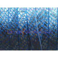 Cuero plano 10 mm grabado serpiente azulon (20 cm)