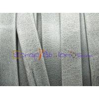 Cuero plano 10 mm gris mate  (20 cm)