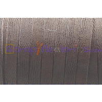 Cuero plano 10 mm micrograbado marron (20 cm)