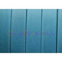 Cuero plano 10 mm  Denver azul turquesa (20 cm)