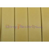 Cuero plano 10 mm  Denver amarillo pastel (20 cm)