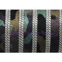 Cuero plano 10 mm piel de serraje militar con cadena (20 cm)