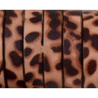 Cuero plano piel 10 mm estampado animal leopardo (20 cm)