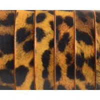 Cuero plano piel 10 mm estampado animal tigre (20 cm)