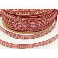 Cuero plano fucsia dibujos étnicos 12 mm rosa (20 cm)