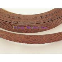 Cuero plano dibujos cenefas 15 mm marrón (20 cm)