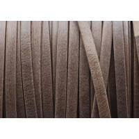 Cuero plano 3 mm, color marron mate ( 1 metro)