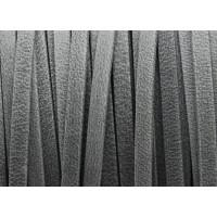 Cuero plano 3 mm, color gris mate ( 1 metro)