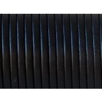 Cuero plano 3 mm, color negro ( 1 metro)