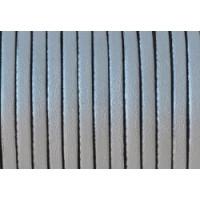 Cuero plano 3 mm, color plata metalizado ( 1 metro)