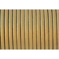 Cuero plano 3 mm, color oro metalizado ( 1 metro)