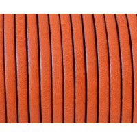 Cuero plano 3 mm, color naranja ( 1 metro)