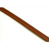 Cuero plano 5  mm, color CAMEL MATE  grosor 1.5 mm ( 20 cm)