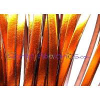 Tireta cuero plano 5 mm cobre metalizado  ( 20 cm)