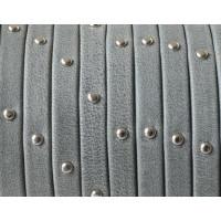 Cuero plano 5 mm denver gris tachuelas,grosor 1.5 mm ( 20 cm)