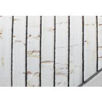 Corcho plano 5 mm blanco borde negro ( 20 cm)