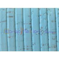 Corcho plano 5 mm azul pastel grosor 1.5 mm ( 20 cm)