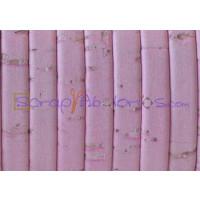 Corcho plano 5 mm rosa bebe grosor 1.5 mm ( 20 cm)