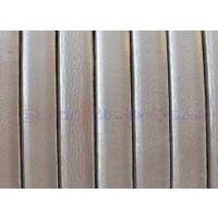Cuero plano 5 mm color blanco metalizado 1.5 mm ( 20 cm)