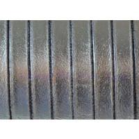 Cuero plano 5 mm color plomo metalizado 1.5 mm ( 20 cm)