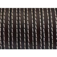 Cuero plano 6 mm marron oscuro con costuras (20 cm)