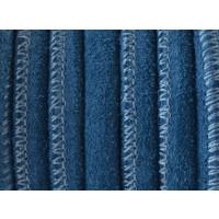 Cuero ante redondo 6 mm azul  (20 cm)