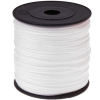 Cordon de Polyester  1.5 mm, color blanco ( 1 metro)