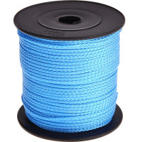Cordon de Polyester  1.5 mm, color azul celeste ( 1 metro)