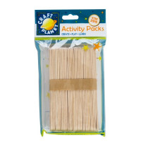 Bolsa de palos de madera natural gigantes CRAFT PLANET - 50 uds