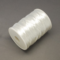 Bobina cola de raton 2 mm, color  blanco 01 ( 73  metros)