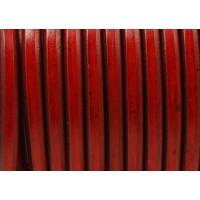 Cuero oval 10x6 mm ( cuero regaliz) color rojo, 20 cm