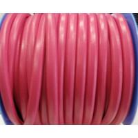 Cuero oval 10x6 mm ( cuero regaliz) color fucsia, 20 cm