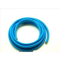 Cuero oval 10x6 mm ( cuero regaliz) color azul, 20 cm