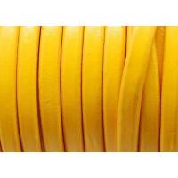 Cuero oval 10x6 mm ( cuero regaliz) color amarillo huevo, 20 cm
