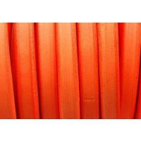 Cuero oval 10x6 mm ( regaliz) naranja fluor , 20 cm