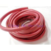 Cuero oval 10x6 mm ( regaliz) rosa medio, 20 cm