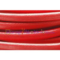 Cuero oval 10x6 mm( regaliz)serpiente micrograbado rojo (20 cm)