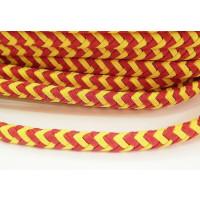 Cuero oval 10x6 mm( regaliz) trenzado algodon España (20 cm)