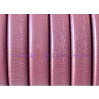 Cuero oval 10x6 mm( regaliz) FUCSIA METALIZADO (20 cm)
