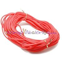 Cordón caucho hueco 4 mm.Rojo. Int.1,8 mm apr ( 1 metro)