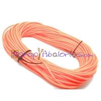 Cordón caucho hueco 4 mm.Naranja.Int.1,8 mm apr ( 1 metro)