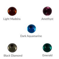 Cristal redondo 5 mm para piezas de zamak - Dark Aquamarine