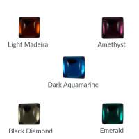 Cristal cuadrado 8x8 mm para piezas de zamak - Emerald