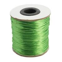 Cordon cola de raton 1 mm, color verde mate( 1 metro)