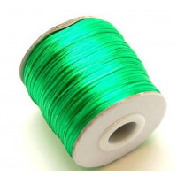 Cordon cola de raton 1 mm, color verde ( 1 metro)
