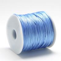Cordon cola de raton 1 mm, color azul celeste (1 metro)