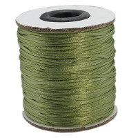 Cordon cola de raton 1 mm, color verde oliva ( 1 metro)